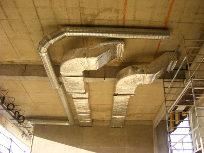 Installation conduit ventilation