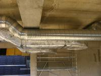 Conception, fabrication et  pose de la gaine de ventilation en plafond haut