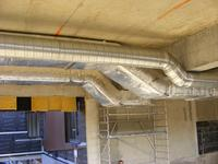 ETCM -Conception, fabrication et  pose de la gaine de ventilation en plafond haut